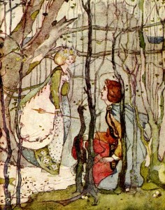 Thomas meets the Queen of Elfland